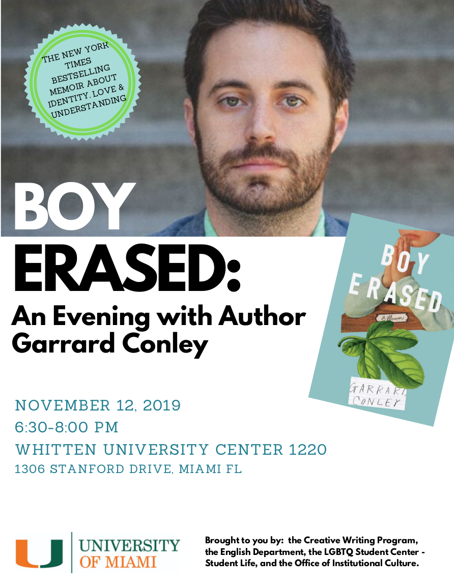 Boy Earased author event