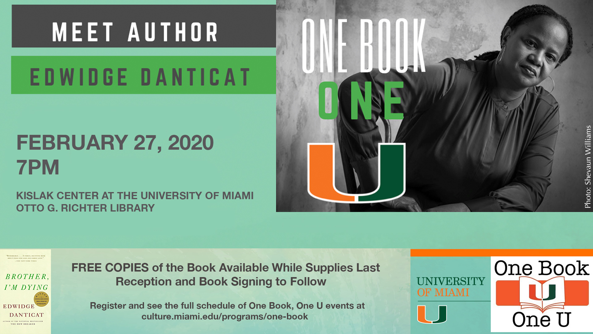 One Book Author Event
